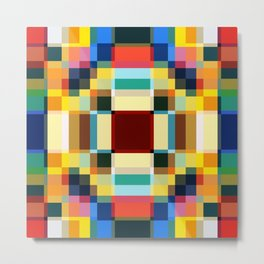 Sirin - Colorful Decorative Abstract Art Pattern Metal Print