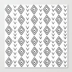 mudcloth 9 minimal textured black and white pattern home decor minimalist beach Canvas Print