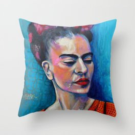 Je te ciel, hommage à Frida Kahlo Throw Pillow