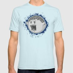 Angel Boo Light Blue SMALL Mens Fitted Tee