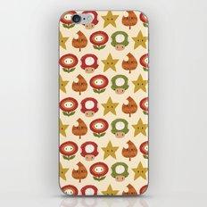 mario items pattern iPhone Skin