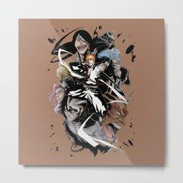 Bleach Caracters Cools5 Metal Print