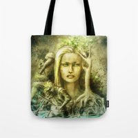 norway Tote Bags featuring Norway by Holly Carton