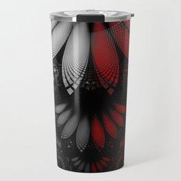 Shikoba Fractal -- Beautiful Feathers of the Vampire Travel Mug