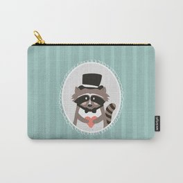 Racoon Heart Robber  Carry-All Pouch