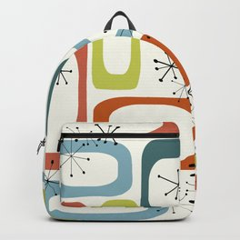Mid Century Modern Shapes 1950s colors  Backpack