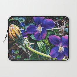 Dandelion with Violets Laptop Sleeve