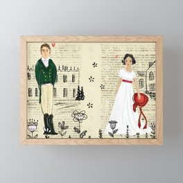 Mr.Darcy of Pemberley and Miss Bennet of Longbourn Framed Mini Art Print