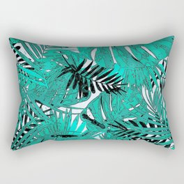 Tropical leaves background texture Rectangular Pillow