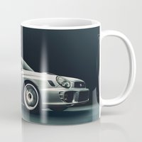 subaru Mugs featuring Subaru WRX by Jacob Brcic