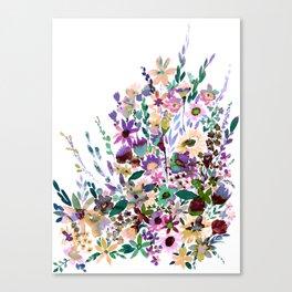 Scarlett Floral Pastel Canvas Print
