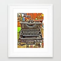 typo Framed Art Prints featuring Typo by Hayden Marx