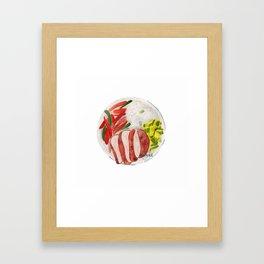 Healthy meal watercolor Framed Art Print