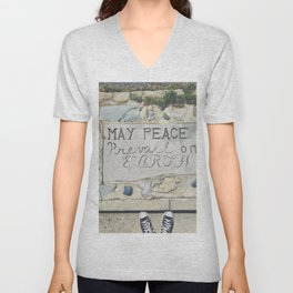 May Peace Prevail on Earth Unisex V-Neck