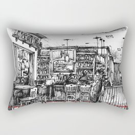 The Dancing Bear Pub Rectangular Pillow
