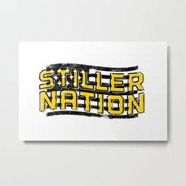 Stiller Nation White Metal Print
