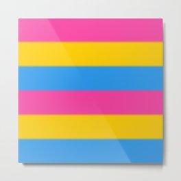 Pansexual Pride Flag v2 Metal Print