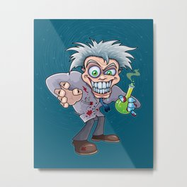 Mad Scientist Metal Print