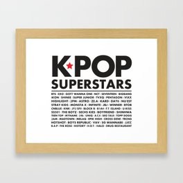 KPOP Superstars Original Boy Groups Merchandse Framed Art Print