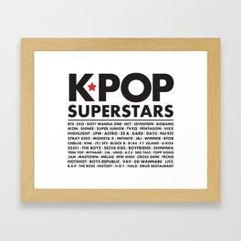KPOP Superstars Original Boy Groups Merchandse Framed Art Print