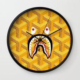 Goyard Bape Yellow Wall Clock