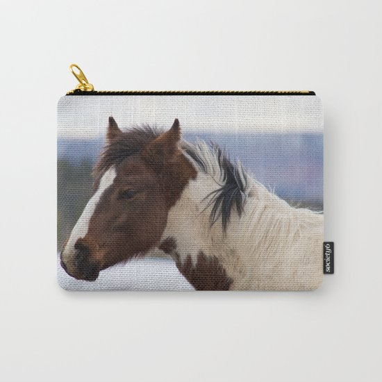 Tri-Colored Horse Carry-All Pouch