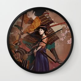 The Spirit of Tomoe Gozen Wall Clock