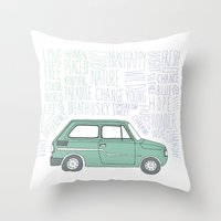 indie Throw Pillows featuring Indie by Tuylek