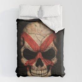 Dark Skull with Flag of Alabama Comforters