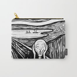 Edvard Munch The Scream 1895 Lithograph Reproduction Artwork for Prints Posters Tshirts Men Women Ki Carry-All Pouch