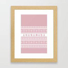 """Roll for Initiative Fair Isle in """"Frosting"""" Framed Art Print"""