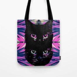 Black Cat Rising Tote Bag