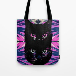 Black Cat Rising Tote Bag