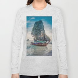 Boat in the sea Long Sleeve T-shirt