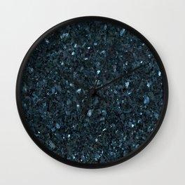 Star Galaxy Granite Glitter #1 #mineral #decor #art #society6 Wall Clock