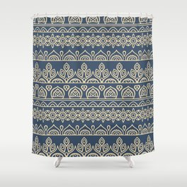 Stripes Mandala 2 Shower Curtain