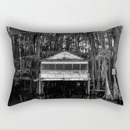 Speak Easy Black & White Rectangular Pillow