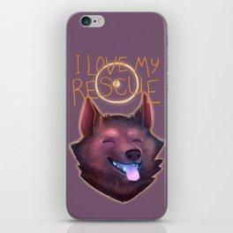 I Love My Rescue iPhone Skin