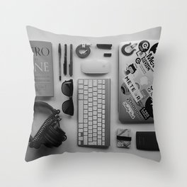 COMPUTER - IPHONE - ANDROID - HEADPHONES - CREDIT - CARDS - MOUSE - PENS Throw Pillow