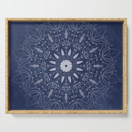 Indigo Mystique Mandala Serving Tray