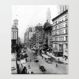 Vintage Broadway NYC Photograph (1920) Canvas Print