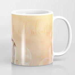 Balance Stone Cairn Sunset  Bubbles Light Coffee Mug