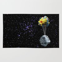 death star Area & Throw Rugs featuring Death Star by J Styles Designs