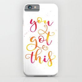You Got This | Original Red and Yellow Palette iPhone Case