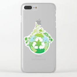 Green Planet Clear iPhone Case