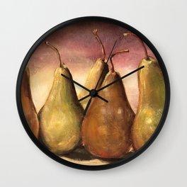 Tuscany Pears Wall Clock