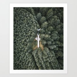 Airplane in the Woods Art Print