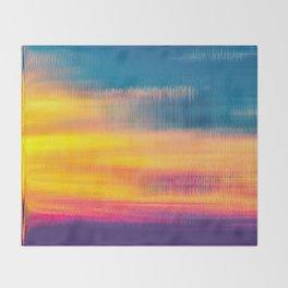 Glitch Glow Throw Blanket