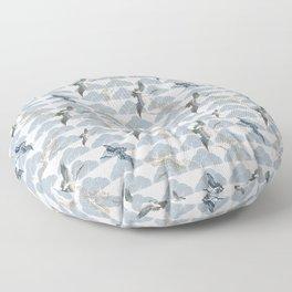 Crane Waves Floor Pillow