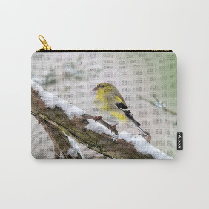 Balancing Act (American Goldfinch) Carry-All Pouch